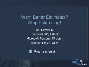 Joel Semeniuks Talk at DevTeach